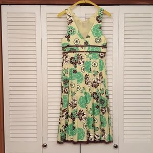 LIDA BADAY Dresses - LIDA BADAY YELLOW FLORAL PRINT BEAUTIFUL DRESS
